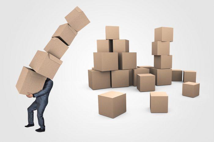 solid cardboard box